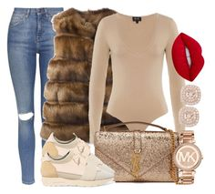 """NEW YEAR LOOK - II"" by camrzkn ❤ liked on Polyvore featuring Topshop, Liska, Yves Saint Laurent, Balenciaga, Michael Kors and Lime Crime"