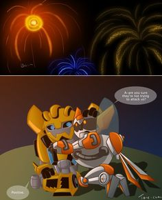 Very late 4th of July (TFRB:Bee+Blades) by Tone-chan on deviantART