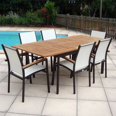 Table de jardin en teck 180x100cm Proloisirs - Maison Facile : www ...