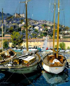 http://www.artistsandart.org/2012/10/Provence-landscape-oil-painting-Gabriel-Deschamps.html