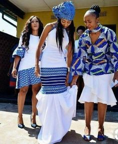 Beautiful women's shweshwe dresses for Summer Concerts, African women always strive to be at the highest levels of style,