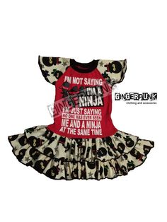 Perfect dress for your ninja child