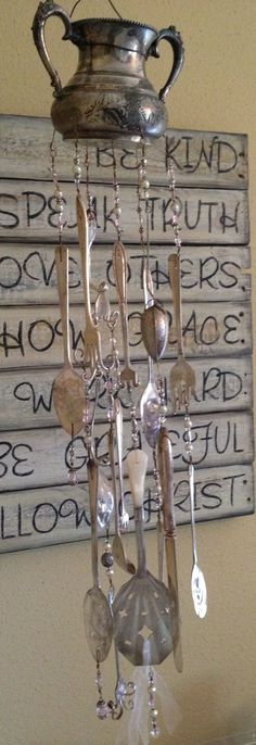 Silverware Wind Chimes | Silverware wind chime | Re-use, Re-purpose, Recycle, Renew