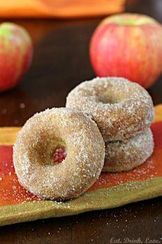 Baked Apple Cider Doughnuts via Eat. Drink. Love. #fall