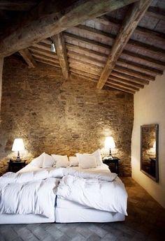 Renovated Italian Farmhouse Bedroom, White and Masculine.