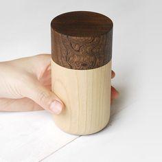 Tutu wood container - Soji Collection - Medium Brown