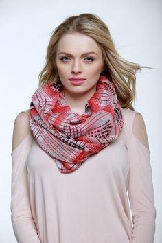 Checkmate Red infinity scarf