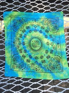 8510688256 Tie Dye Bandana Hippie Room Decor Tie Dye Wall by missioncatnip