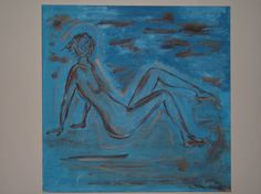 'Blue Woman' WG Reid (acrylic on canvas, x Woman, Canvas, Artist, Blue, Painting, Collection, Tela, Painting Art, Canvases