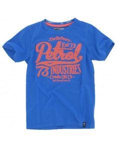 Petrol Industries - T-shirt Logo daytona blue €13,95