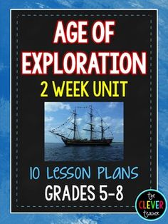 In this 2 week unit students will learn all about the Age of Exploration and its effects. This unit contains 10 complete lesson plans min each), worksheets with answer keys, a powerpoint presentation, task cards, and much more! There are seve 5th Grade Social Studies, Social Studies Classroom, Social Studies Resources, Teaching Social Studies, Teaching History, School Resources, Teaching Tools, Teaching Resources, Explorers Unit