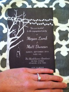 Our engagement party invites