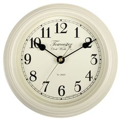 SMALL CREAM METAL WALL CLOCK
