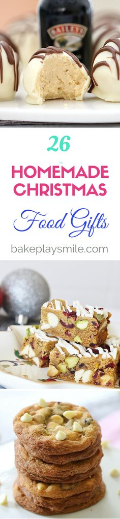 26 of the very BEST HOMEMADE CHRISTMAS FOOD GIFTS!