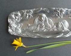 Vintage Serving Tray Arthur Court Lop Eared by RosaMeyerCollection