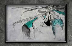 "artist | - rysunek ""TRAMEA LACERATA"" FORMAT - 70 x 50 cm TECHNIKA - OLEJ/AKRYL/OŁÓWEK/PROMARKER NA PŁÓTNIE"