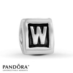 This PANDORA fashion jewelry charm features the letter K crafted in sterling silver. Gemstone Jewelry, Diamond Jewelry, Gold Jewelry, Fine Jewelry, Jewlery, Letter W, Charm Jewelry, Pandora Charms, Jewelry Stores