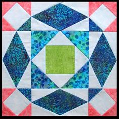 Quilt Inspiration: Storm-at-Sea Quilts, free block diagrams and patterns