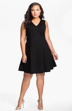 Fit & Flare Dress (Plus) | Nordstrom ABS by Allen Schwartz Sleeveless