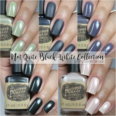 Poetry Cowgirl Nail Polish - Not Quite Black & White Collection