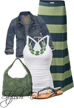 Cute spring outfit. I normally don't like green, but the two tone is super cute!