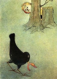 František Halas: To The Children    Illustrated by Ota Janeček. Prague 1961.