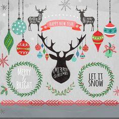 Christmas Clipart, Christmas ornamen by DigitalCloud on Creative Market