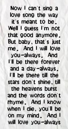 Bon Jovi - Always One of my all time favorite love songs <3