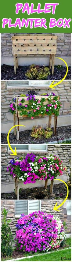 Rustic Handmade Raised Pallet Planter Box - 150 Best DIY Pallet Projects and Pallet Furniture Crafts - Page 38 of 75 - DIY & Crafts