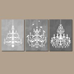 chandelier wall art canvas or prints gray watercolor wall art ombre bathroom wall art bedroom decor