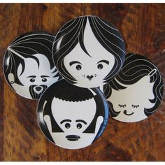 These are too funny! It would be funny to have them depict your family members! Face Plates by Christopher Jagmin