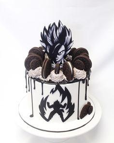 Goku Birthday, Dragon Birthday, Birthday Cake, Cupcakes, Cupcake Cakes, Pumpkin Decorating, Cake Decorating, Dragonball Z Cake, Anime Cake