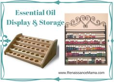 Ideas for displaying and storing your essential oils