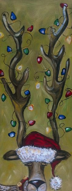 """Reindeer Painting! Can't wait to paint this at """"How Great Thou Art"""" in Wichita Falls!"""