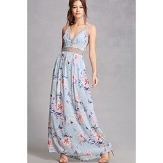 bc764dab3efc Forever21 Soieblu Floral Maxi Dress ( 65) ❤ liked on Polyvore featuring  dresses