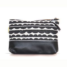 Black Clouds Top Zipper Clutch