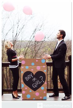 Reveal Baby's Gender with Pink or Blue Helium Balloons