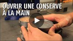 Here is an easy camping hack, showing you how to open any can without a can opener.