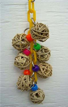 Cluster of Blossoms Small Bird Toys Parrot by WhiteWingBirdToys, $8.50
