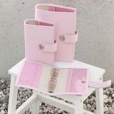 rosa leder timer kalender 6 ringe
