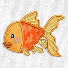 Don't miss this free embroidery design from Adorable Applique. It's a fish. What a catch!