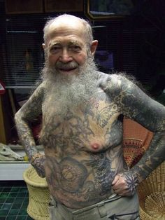 Muscular+Tattooed+Bearded+Men | You go through with it, but you can't quite enjoy yourself, instead ...