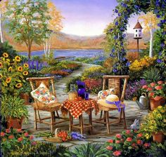 """Afternoon in the Garden"""