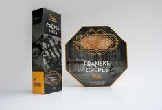 FRANSKE CRÊPES packaging by Olesya Kurulyuk, via Behance  @Jillian Medford Huffman Quiller @Karen Jacot Laut