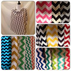 Chevron Breastfeeding Cover- this cover comes in 17 different chevron colors on Etsy, $19.00
