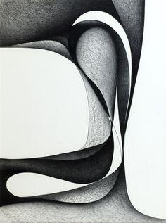 Woodland Eros drawing IV, conte crayon on illustration board, 1971 by Seymour Fogel