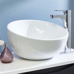 Phoenix Round Large Countertop Basin - Free Delivery on orders over Countertop Basin, Countertops, Downstairs Toilet, Sink, Phoenix, Ceramics, Design, Home Decor, Free Delivery