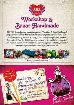 workshop & bazaar handmade by MSF