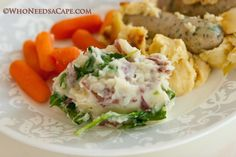 Mashed Potatoes with Wilted Spinach | Who Needs A Cape?