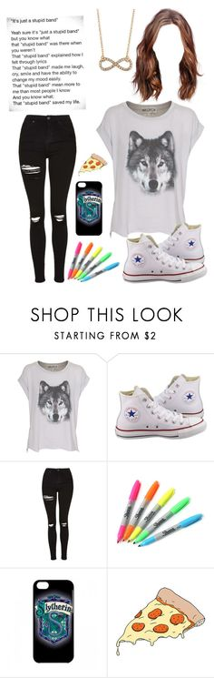 """Unnamed #22"" by invisible-girl-736 ❤ liked on Polyvore featuring Wildfox, Converse, Topshop, Sharpie, Tattly, Jules Smith and Payne"